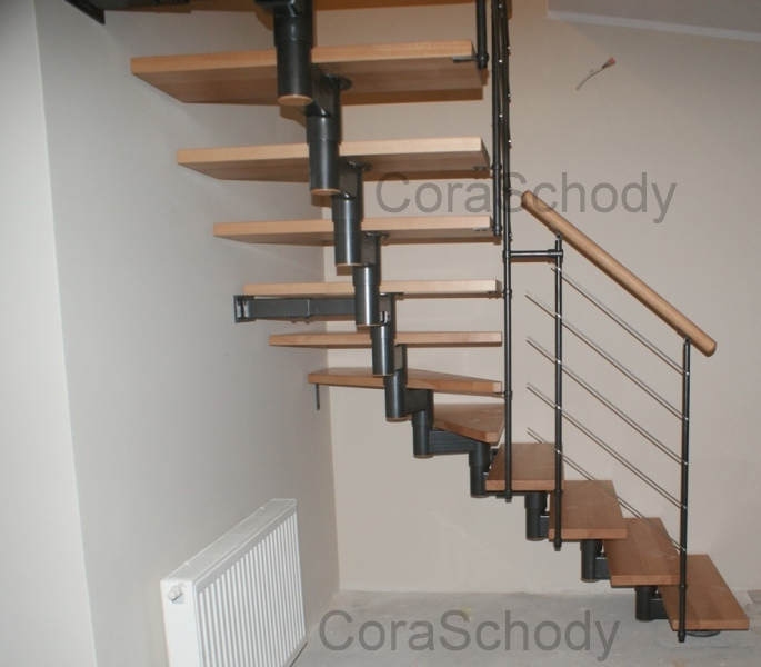 treppen modular cora modell mix extra l 90 14 elemente. Black Bedroom Furniture Sets. Home Design Ideas