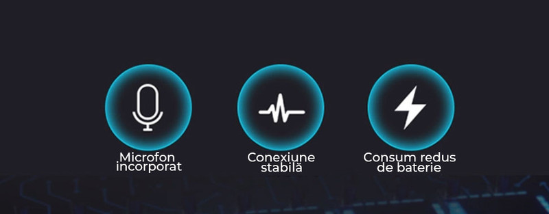 Ultima versiune Bluetooth 5.0 + EDR (Enhanced Data Rate). Conexiune rapida si fara interferente