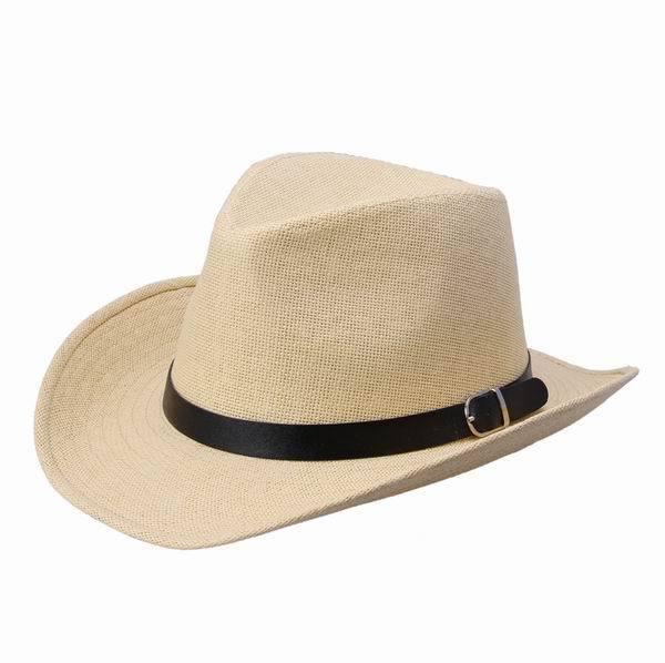 Men's Womens Fedora Trilby Cowboy Western Cap Summer Beach ...