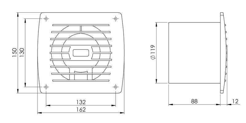 Lüfter Abluft Kabel Schalter Ventilator Küche WC Bad E120WP EBay U003eu003e  Badezimmer Ventilator Q
