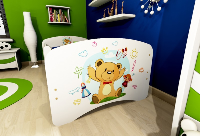Kids Toddler Bed TEDDY Frame With Mattress 160 X 80 Single