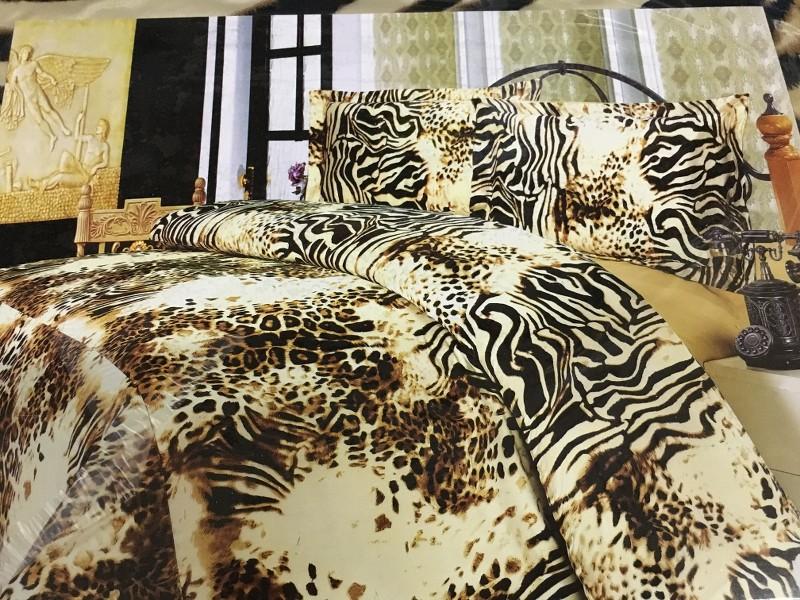 Completo letto matrimoniale raso poliestere leopardato nero lenzuola federe sexy - Amici di letto completo ...