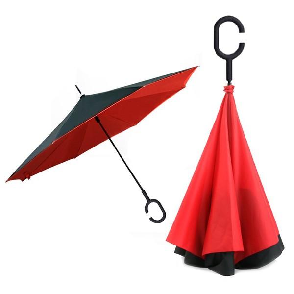 Ombrello al contrario reversibile invertito rovesciato pioggia auto casa novita1 ebay - Casa al contrario ...