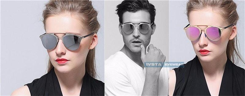 Occhiali da sole a specchio vintage retro 39 uomo donna real modello 2017 ebay - Occhiali a specchio uomo ...
