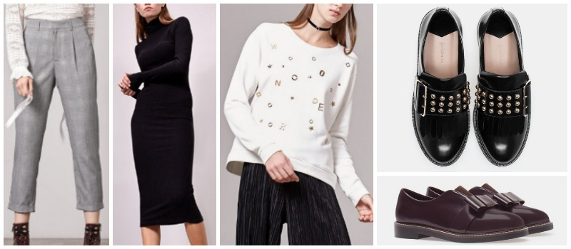 stradivarius aw16 wishlist autumn winter pantalon dress sweater loafers