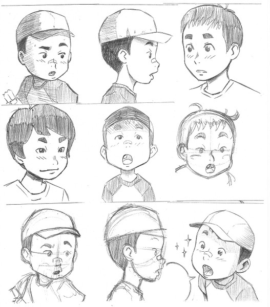 Nota de Dani: estos primeros diseños los hice en post-it en horas de descanso del trabajo en las que me dibujaba encima.