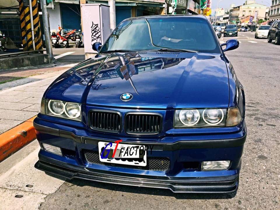BMW E36 M3 OR M TECH SPORT BUMPER USE ONLY CARBON FRONT LIP SPOILER RIEGER STYLE