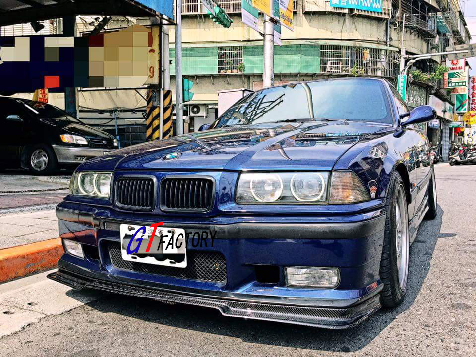 BMW E36 M3 M TECH SPORT BUMPER ONLY CARBON FRONT LIP