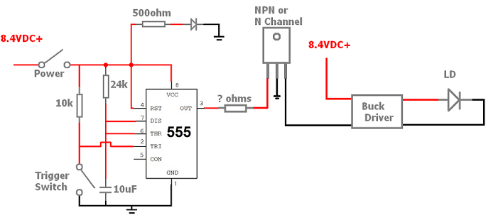 Single Pulse Driver Circuit | Laser Pointers