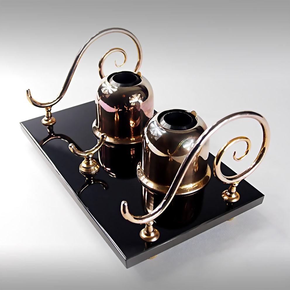 ancien encrier vintage inkwell design art deco nouveau design ann es 20 39 30 39 ebay. Black Bedroom Furniture Sets. Home Design Ideas