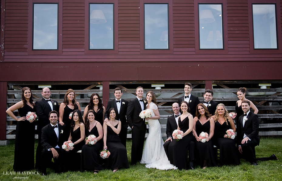 Vanity Fair style wedding party pictures, bridesmaids and groomsmen at Barn at Gibbet Hill wedding