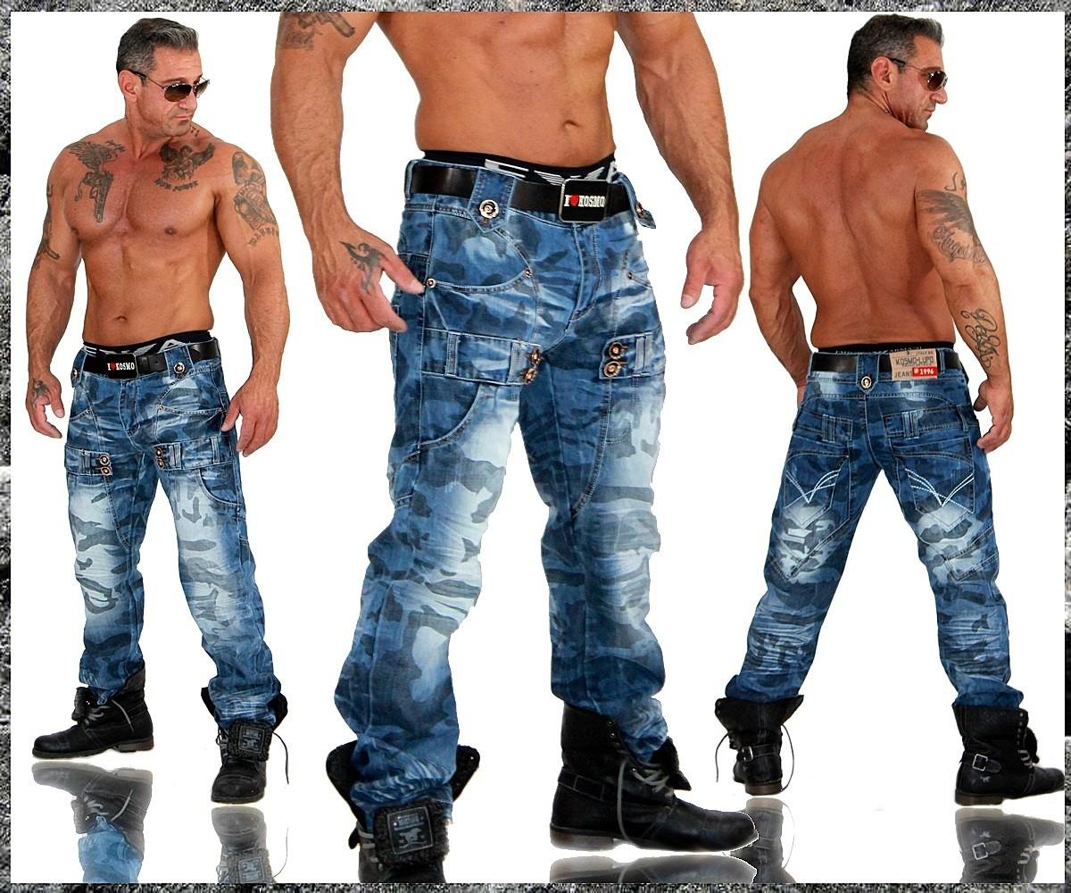 kosmo lupo k m herren designer jeans hose clubwear cargo. Black Bedroom Furniture Sets. Home Design Ideas