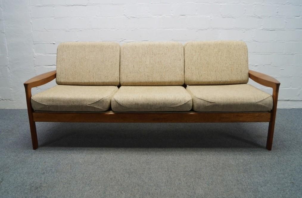 l ssiges d nisches 3er teak sofa 60er 70er komfort denmark. Black Bedroom Furniture Sets. Home Design Ideas