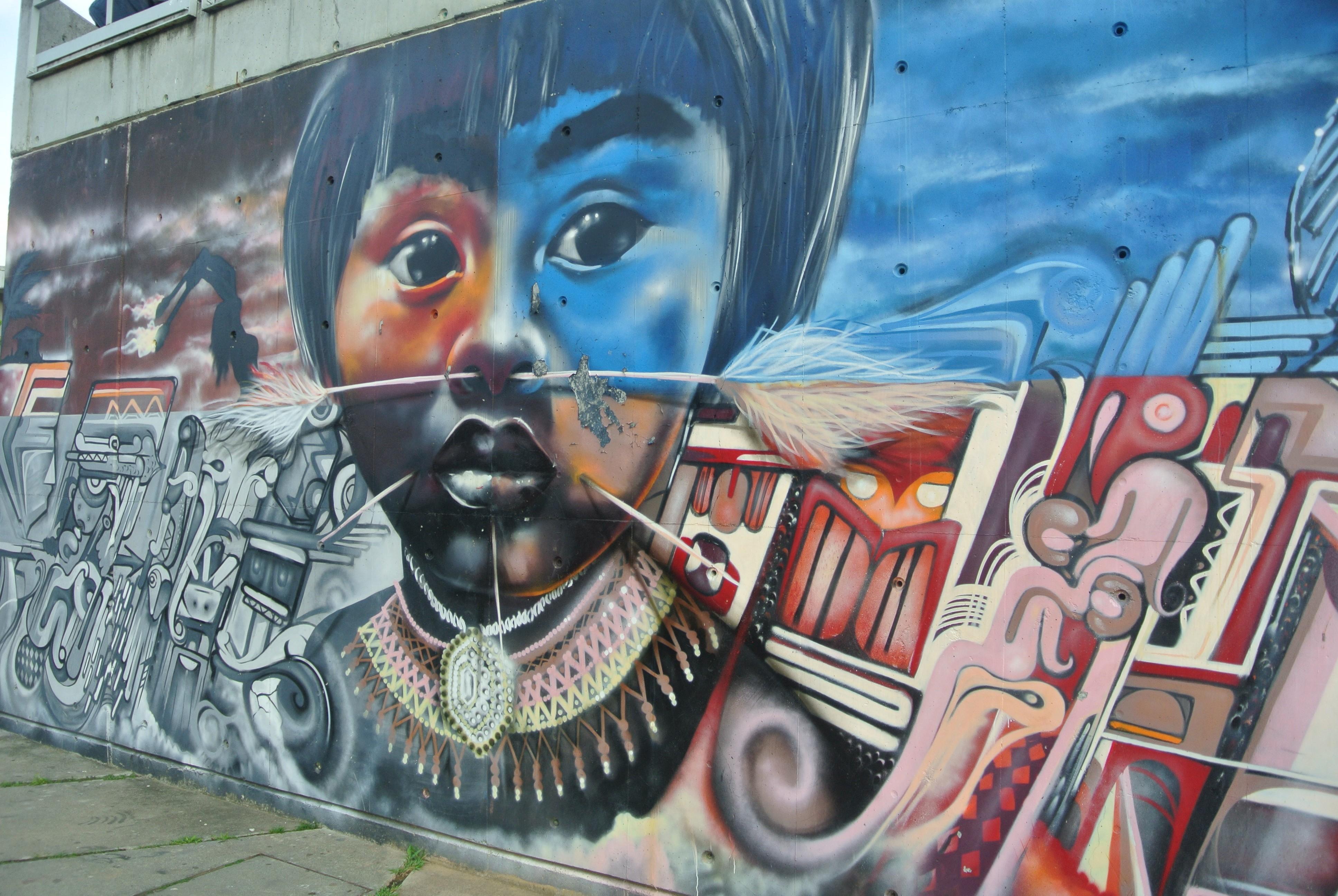 Graffiti in Comuna 13, Medellín, Colombia.