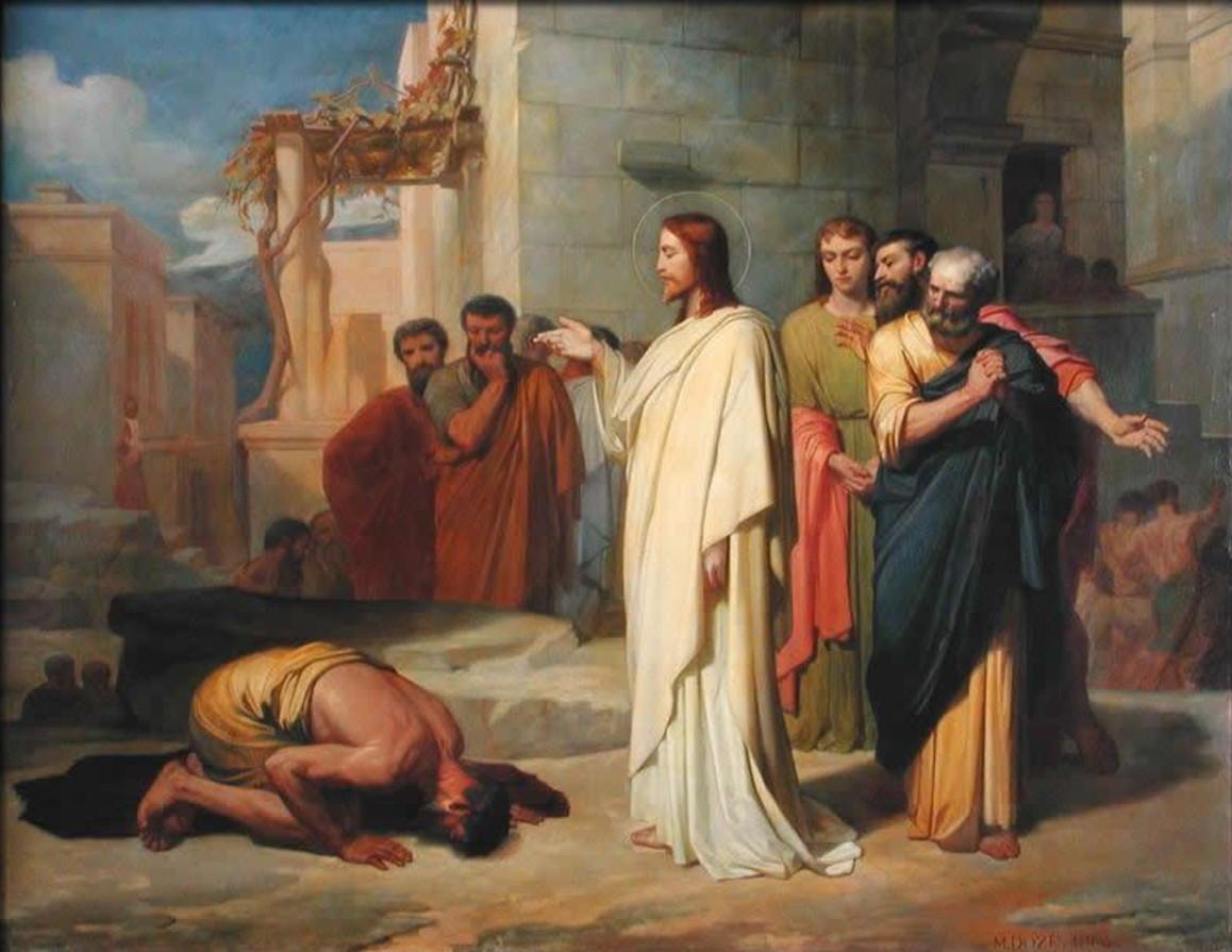 Jesús guareix un leprós