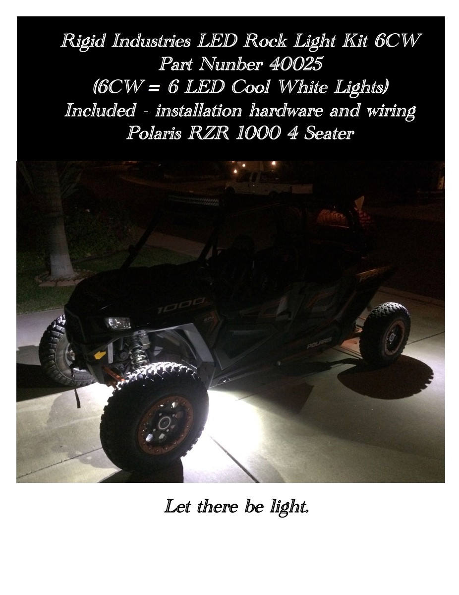 Installed 6 Rock Lights Polaris Rzr Forum Forumsnet Rigid Light Wiring Diagram Youtube