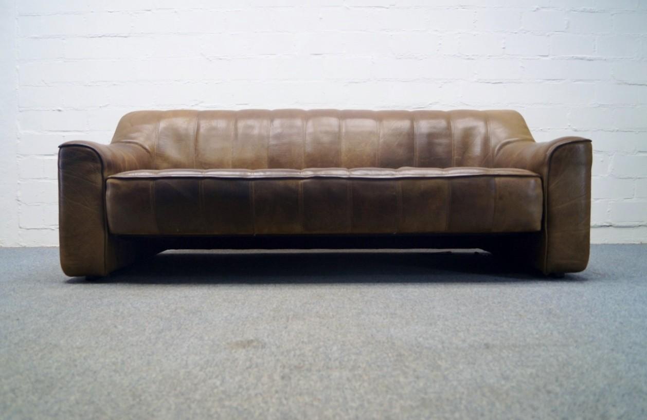 de sede ds 44 sofa 3 sitzer neckleder leder sofa lounge ds canap ebay. Black Bedroom Furniture Sets. Home Design Ideas