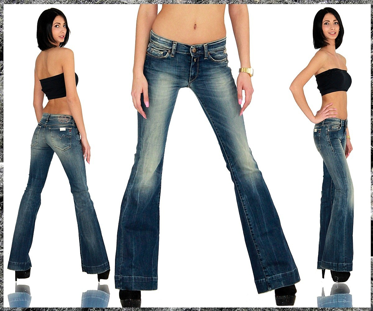 replay damen jeans hose bootcut schlag schlaghose 421 ebay. Black Bedroom Furniture Sets. Home Design Ideas