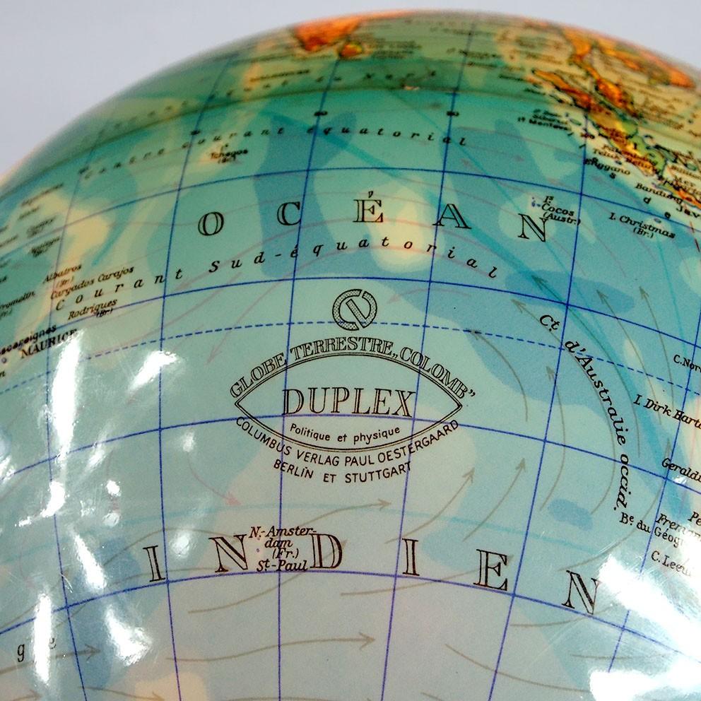 globe terrestre lumineux mappemonde vintage map of the world lamp design 60 39 70 39 ebay. Black Bedroom Furniture Sets. Home Design Ideas