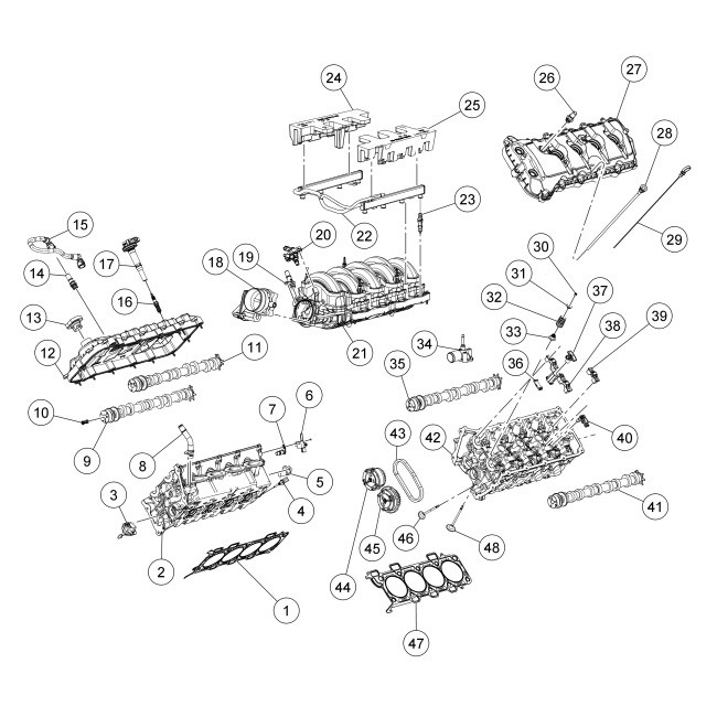 2012 V8 5 0 Exploded View Diagrams