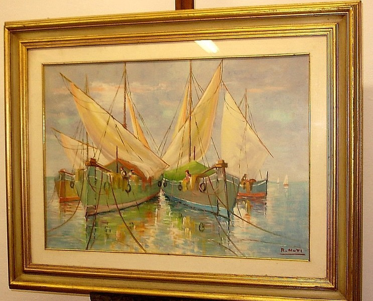 Renzo nuti pittore pratese quadro 50x70 dipinto olio su for Finestra 50x70