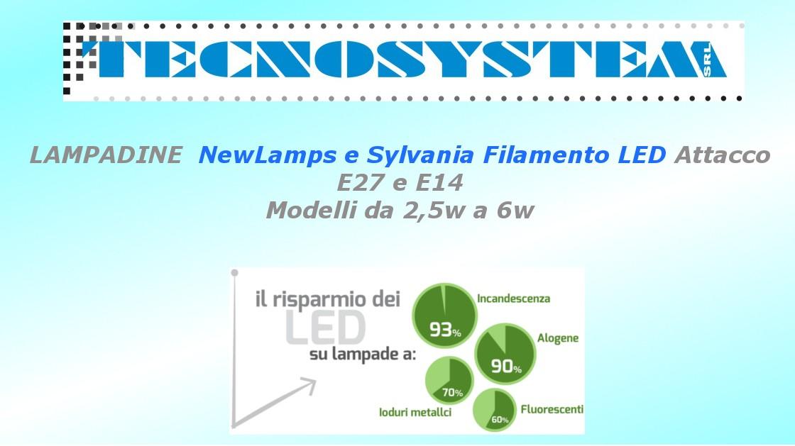 Lampadine led e27 o e14 da 2w a 8w vintage filamento led for Lampadine led modelli