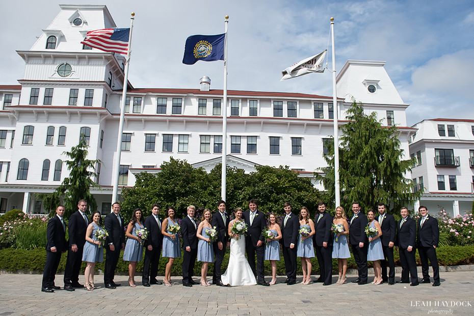 Bridesmaids and groomsmen outside Wentworth by the Sea Hotel
