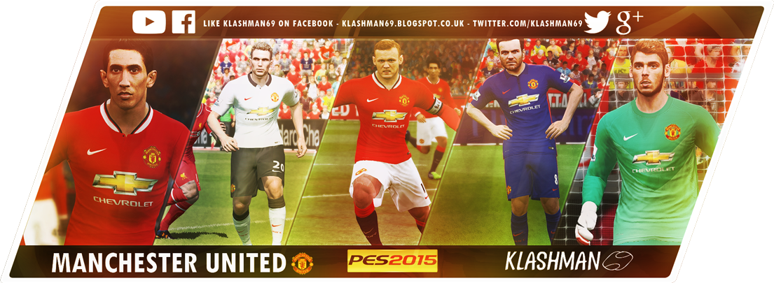PES 2015 Manchester United Kit Pack 2014/15 by Klashman