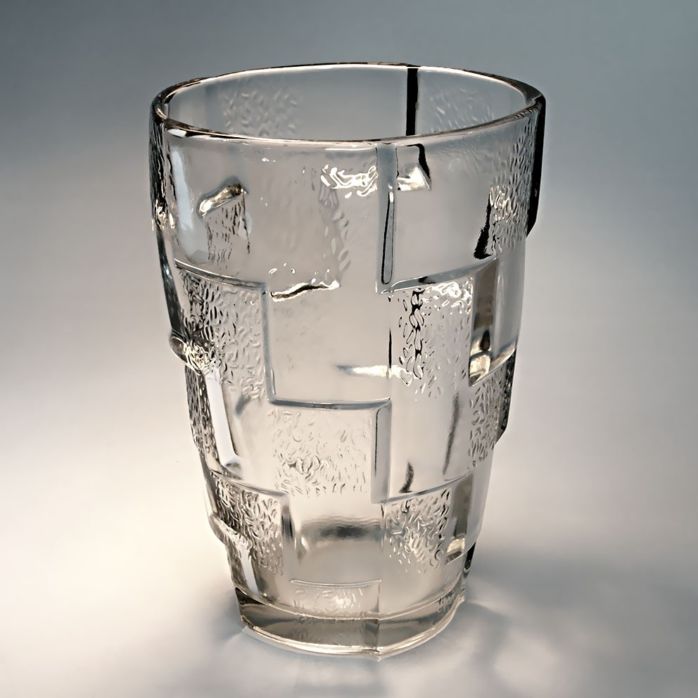 Ancien vase verre moderniste vintage glass vase design art deco ann es 30 40 - Vase ancien en verre ...