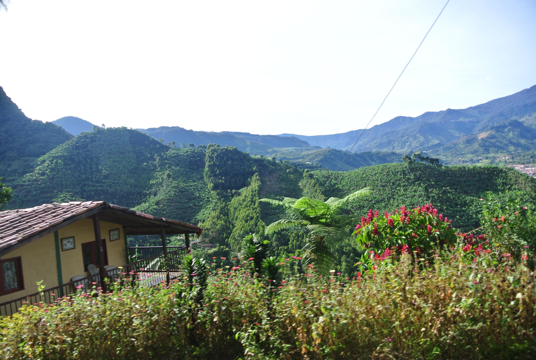 La vista del carro en Jardín, Antioquia