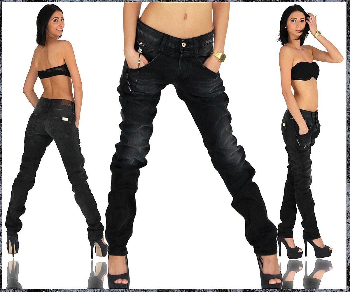 replay damen jeans hose boyfriend boyfit romelly 623. Black Bedroom Furniture Sets. Home Design Ideas