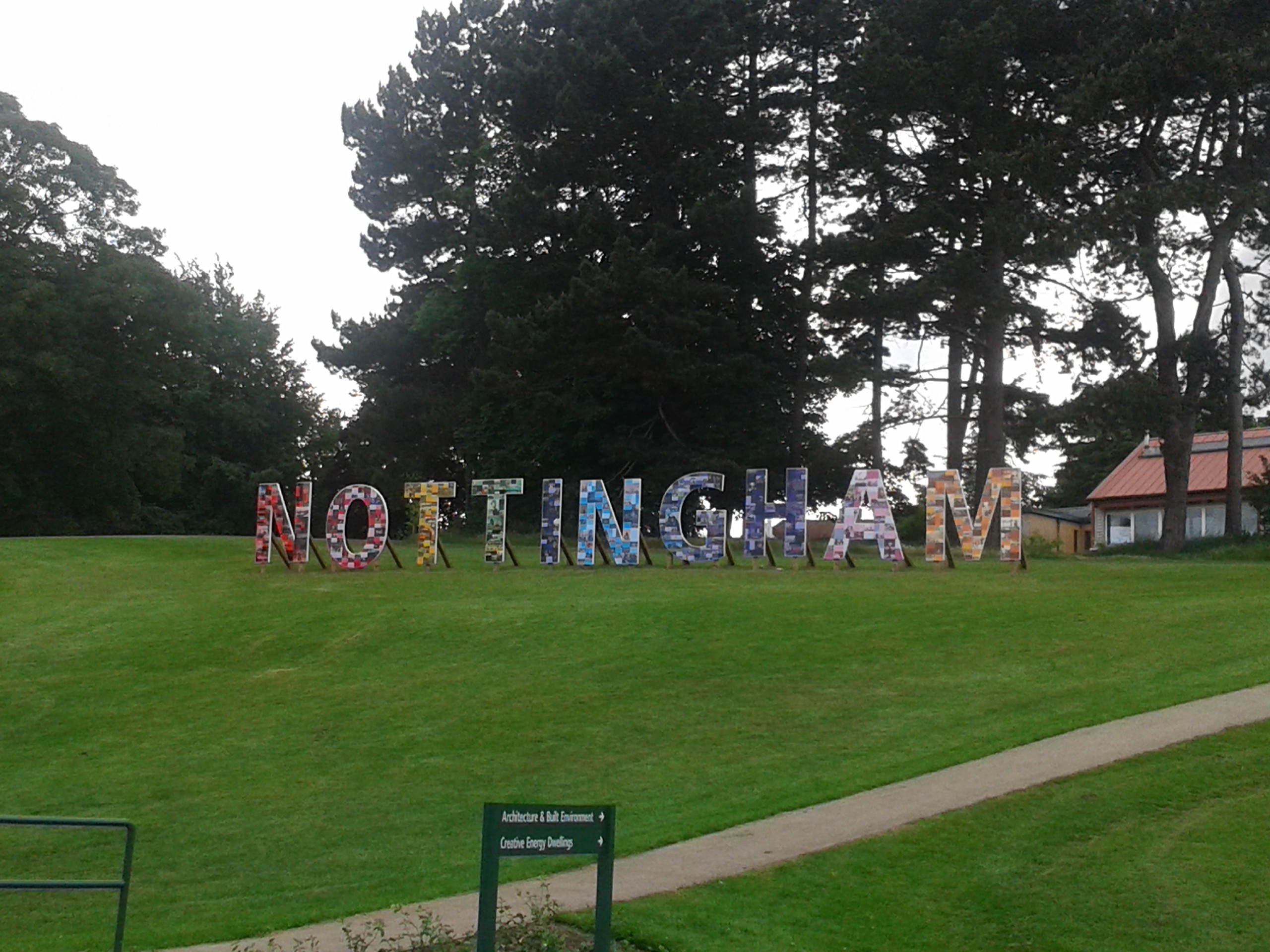 Nottingham sign at University Park Campus, Nottingham | Todd's Travels Travel Blog