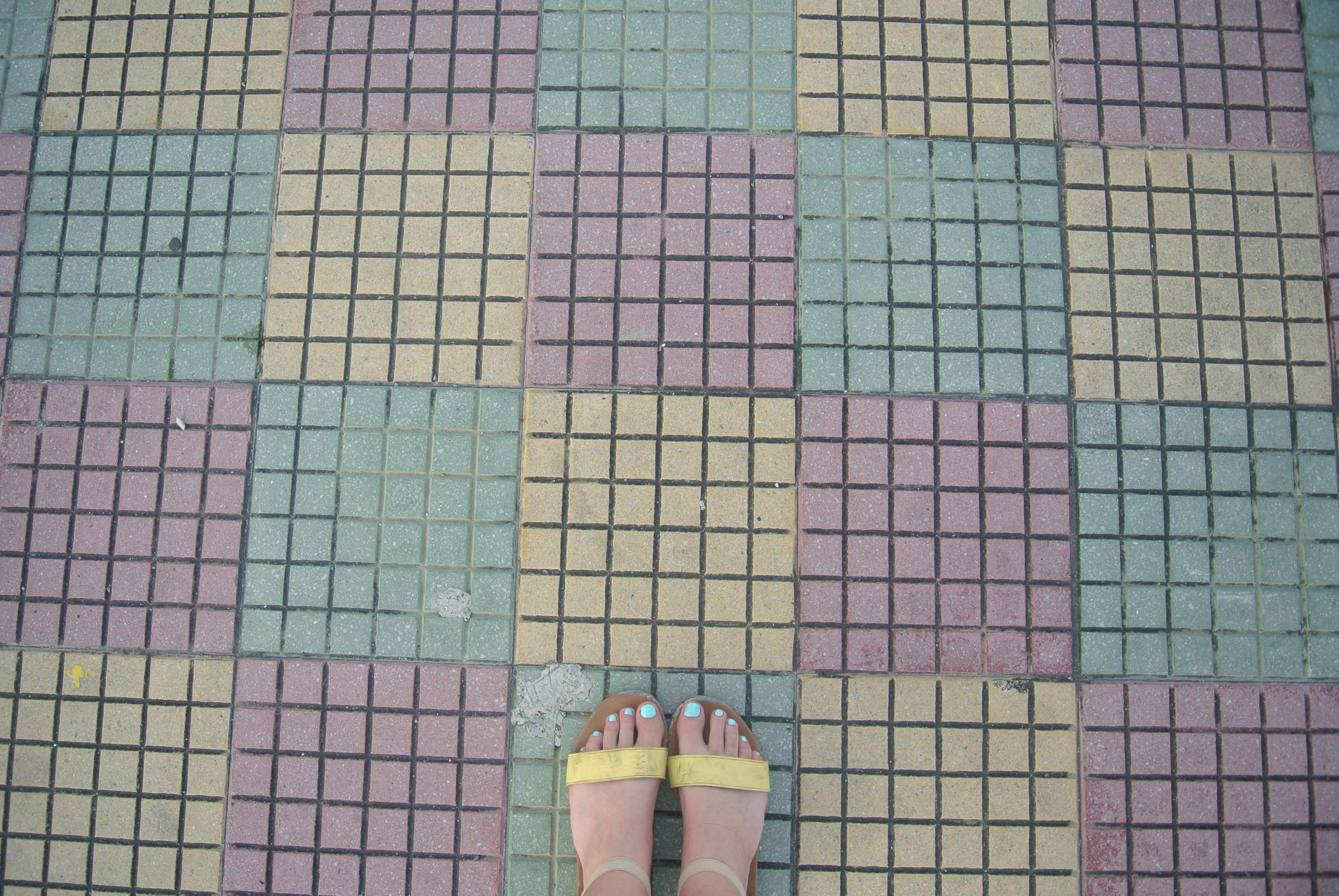 El suelo colorido en San Andrés, Colombia