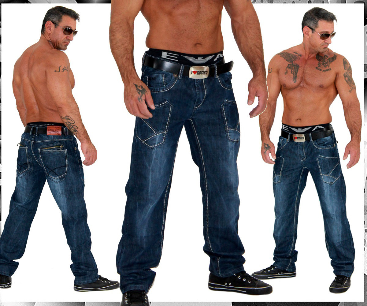 kosmo lupo k m herren designer jeans hose km 239 ebay. Black Bedroom Furniture Sets. Home Design Ideas