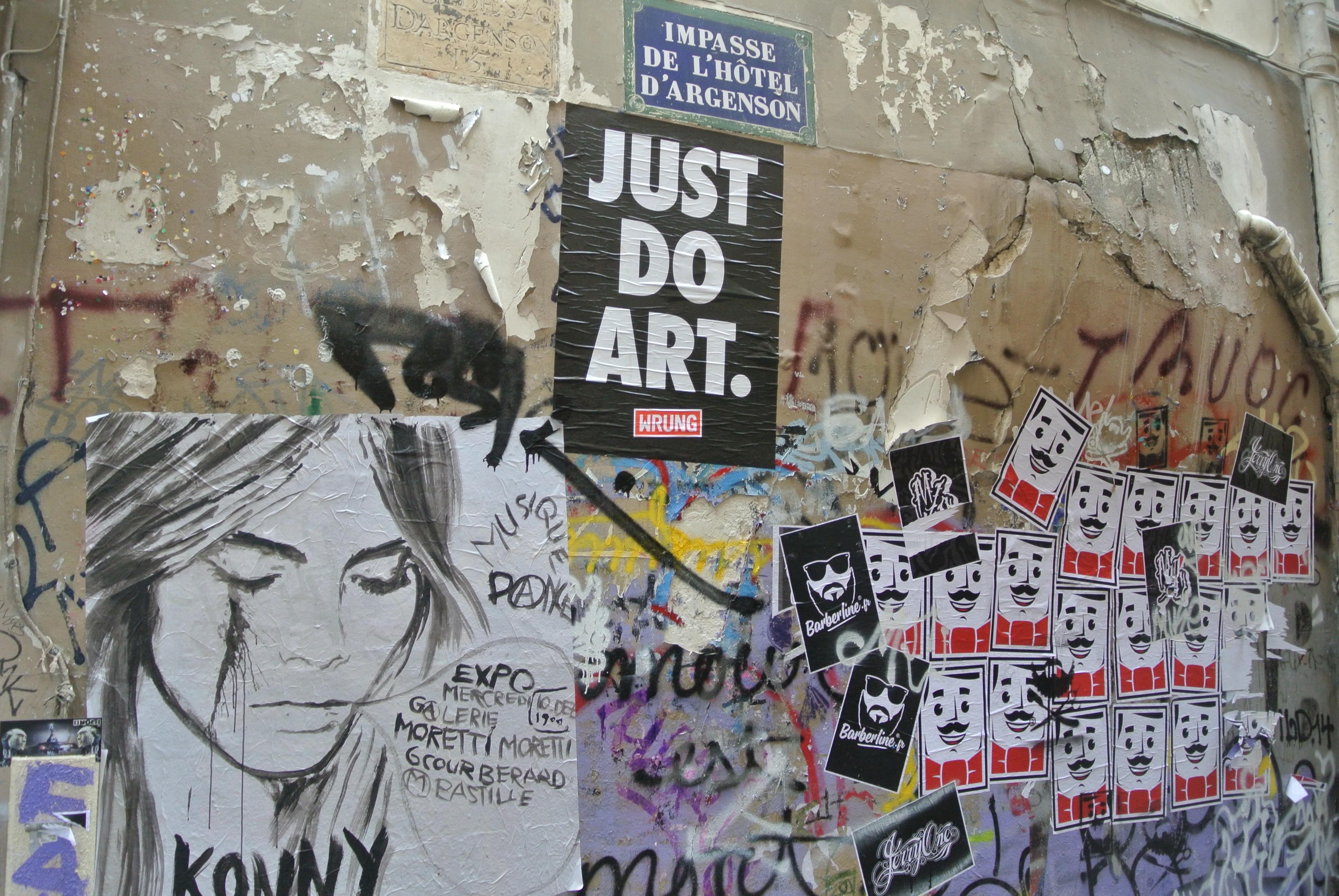 Just Do Art Le Marais Paris Street Art