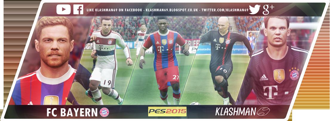 Download FC Bayern Munchen Munich PES 2015 Big Kit Pack