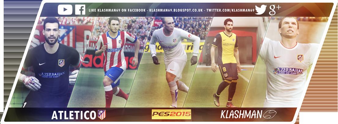 PES 2015 Atletico de Madrid Sockatyes 2014/15 Kit pack by Klashman