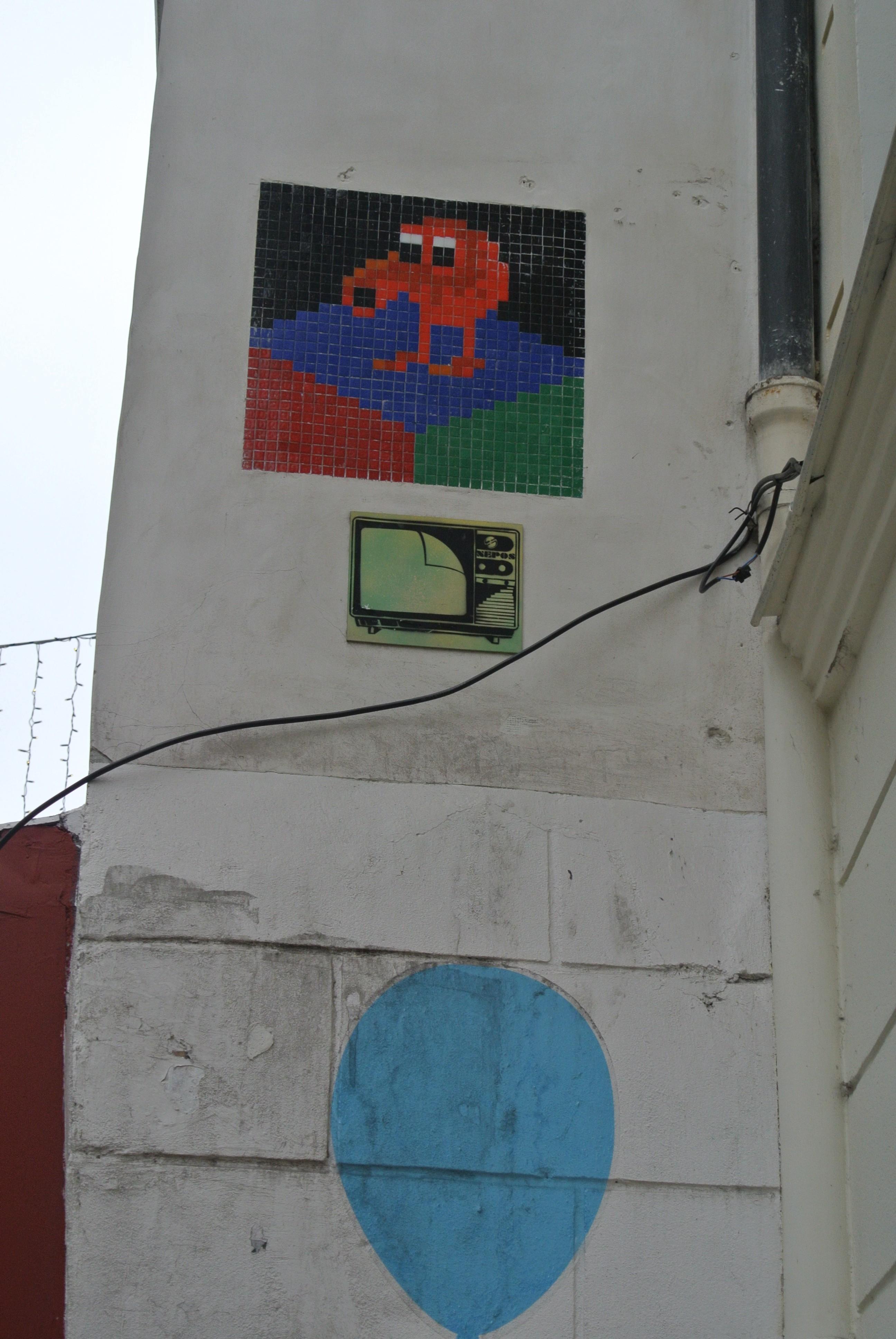 Invader work Street Art Paris