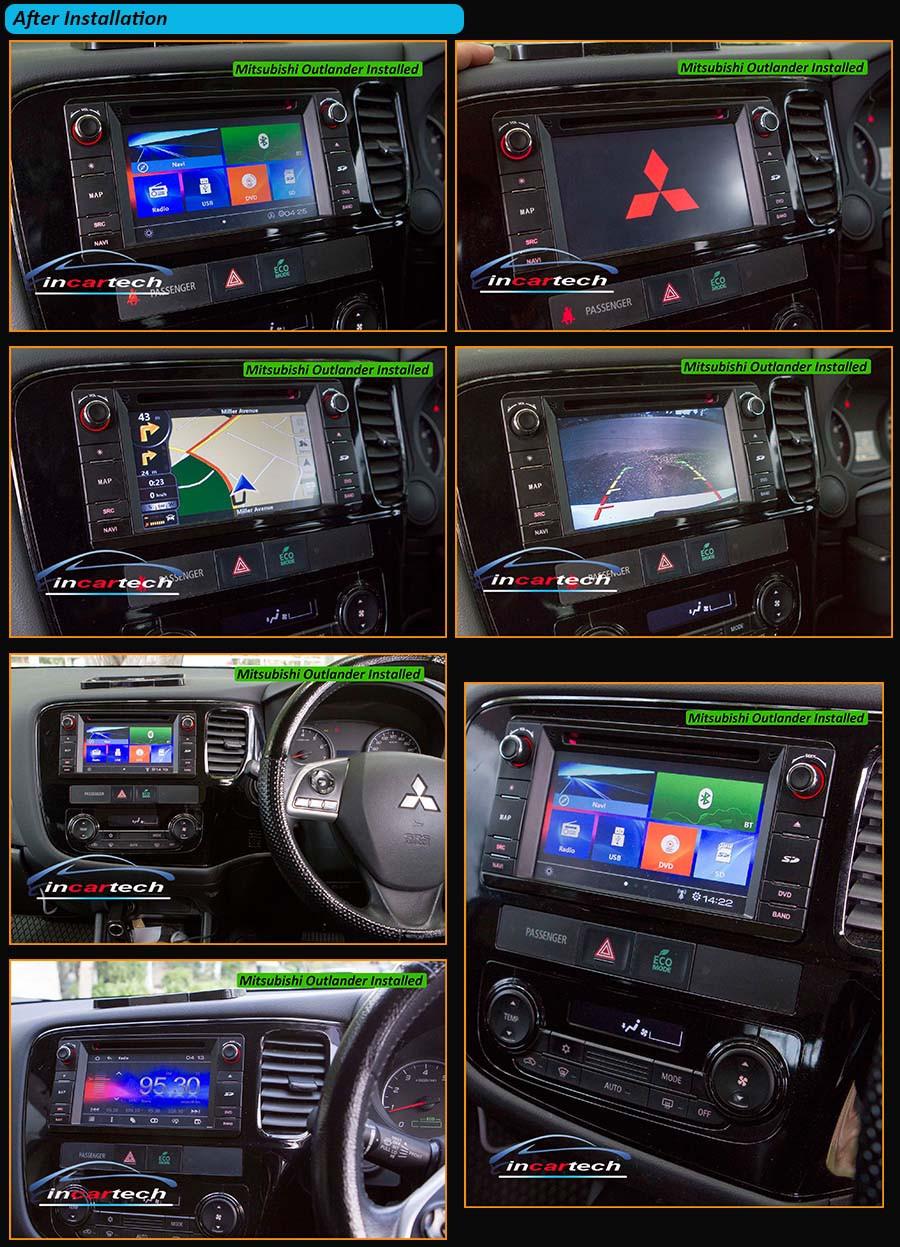 Mitsubishi Triton Outlander ASX Lancer Pajero 12 Indash GPS Navigaton DVD BT AU   eBay