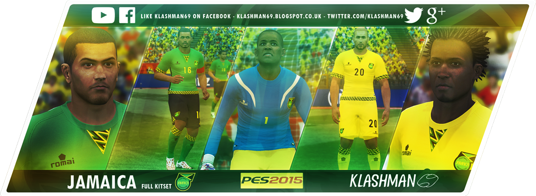Download Jamaica Kit Pack Copa America and Gold Cup 2015