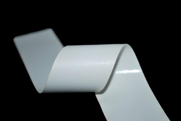 33 Mm White Pvc Vinyl Pu Faux Leather Effect Tape Bias