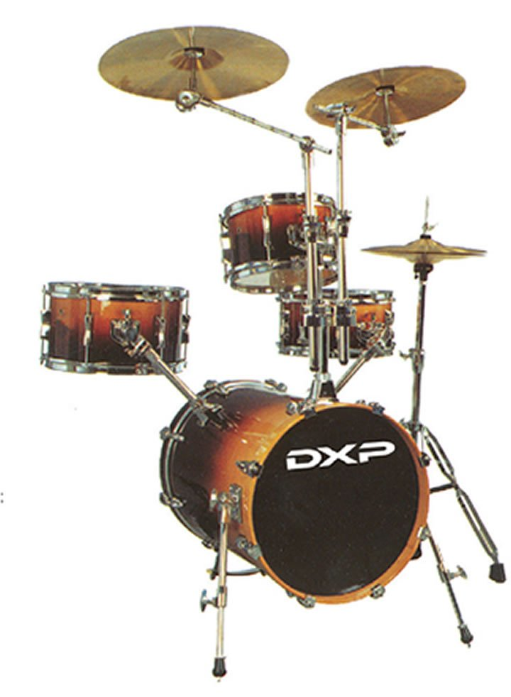 New dxp hip gig style 4 piece portable drum kit with for Yamaha portable drums
