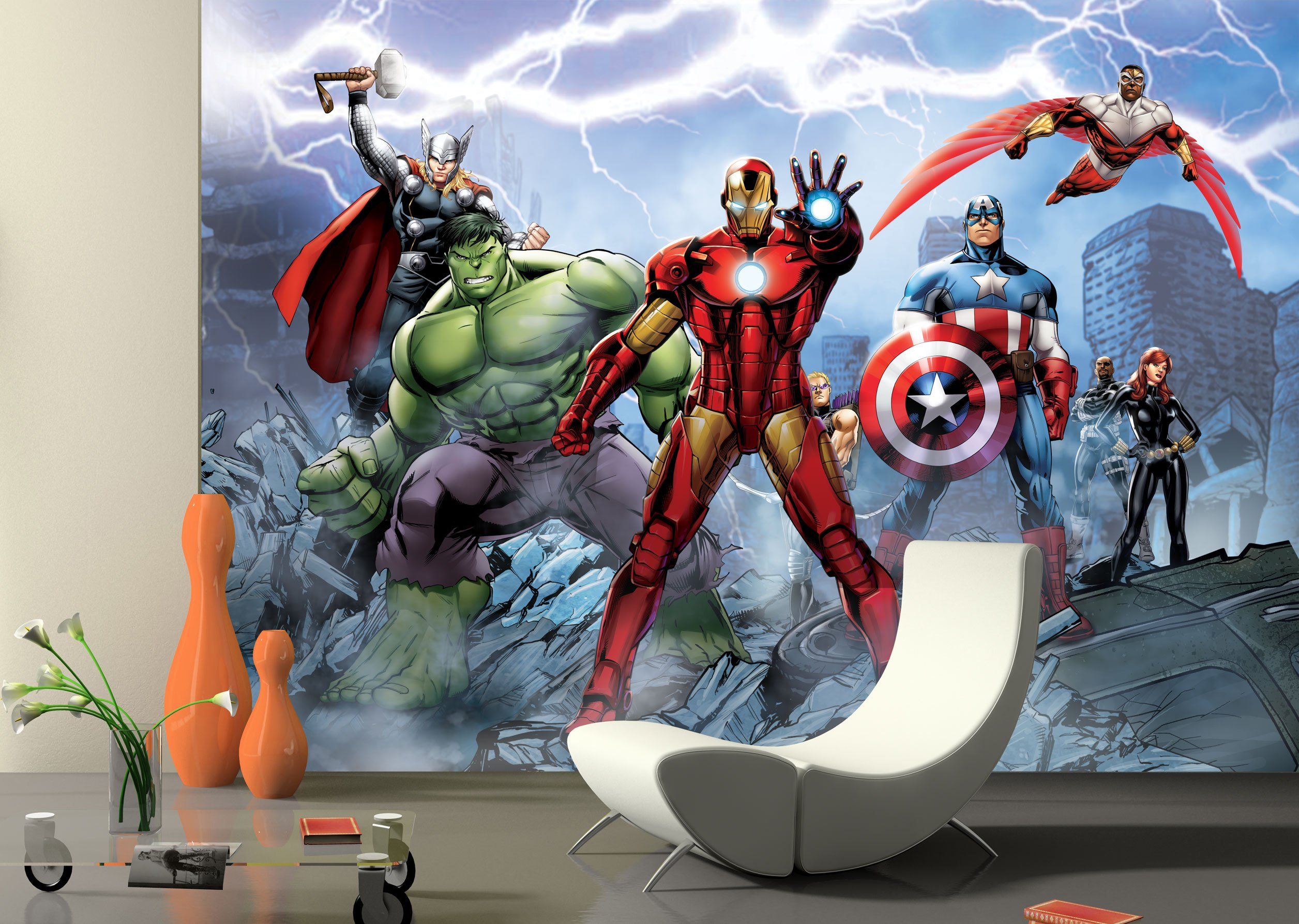 Marvel avengers amazing spider man disney wallpaper photo for Avengers wall mural uk