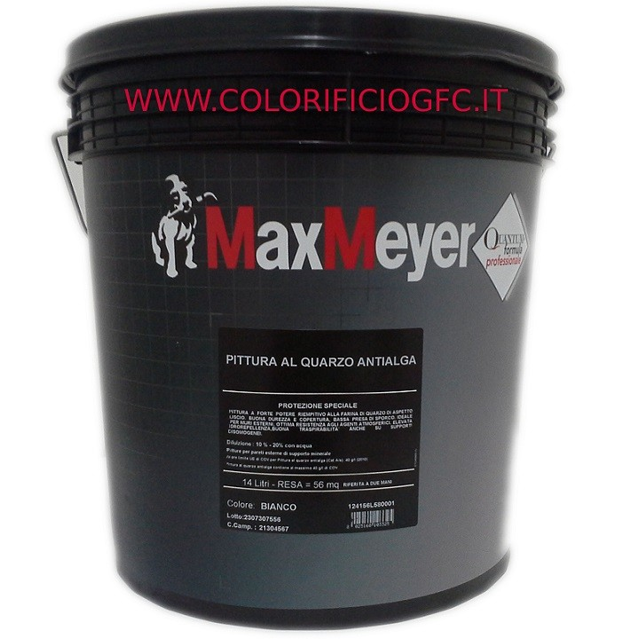 Pittura professionale quarzo antialga bianco per esterno for Esterno quarzo