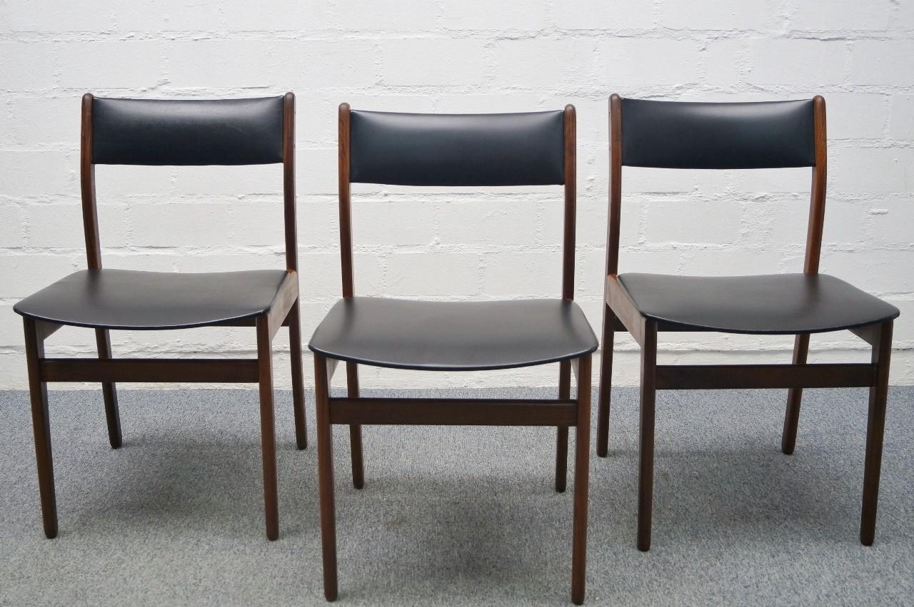 3x filigraner skandinavischer stuhl palisander dinning. Black Bedroom Furniture Sets. Home Design Ideas