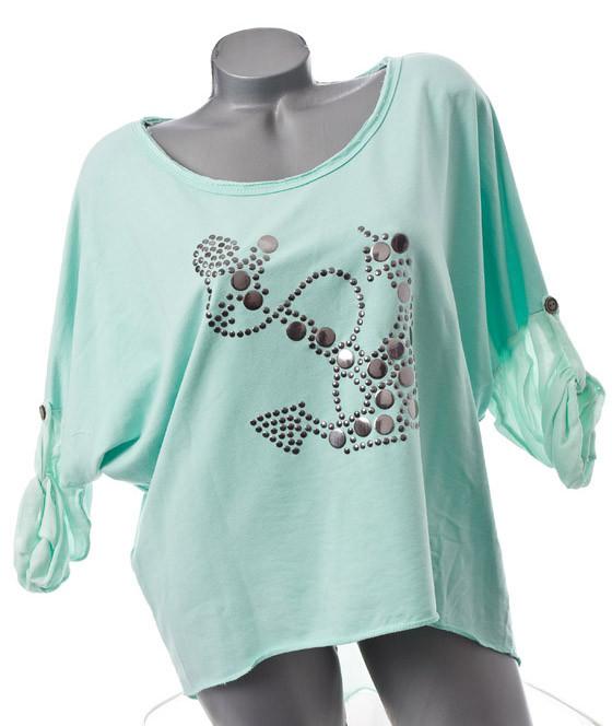 neu vintage oversized leger bluse top shirt anker nieten. Black Bedroom Furniture Sets. Home Design Ideas