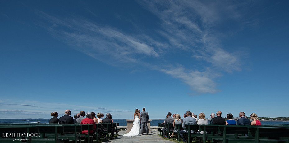 Wedding Ceremony at St Ann's Church in Kennebunkport, Maine