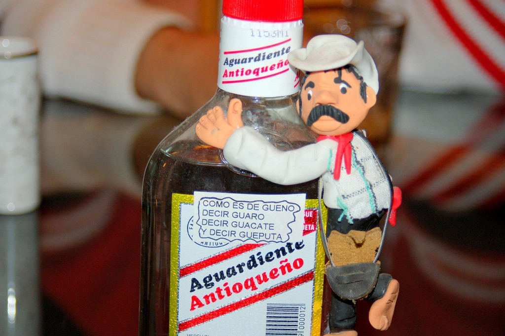 Why can't Aguardiente be mixed.