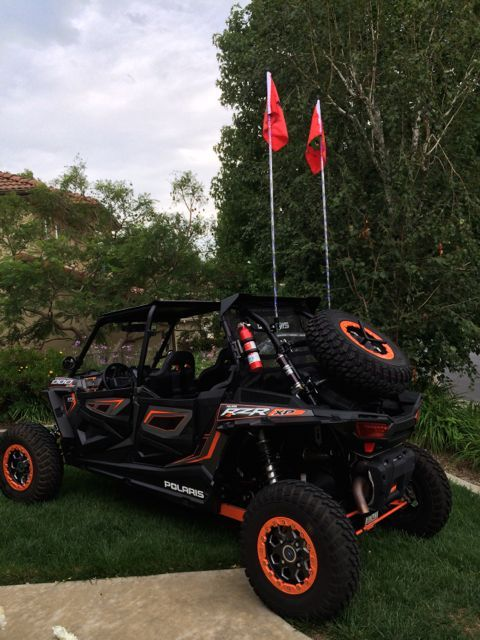 2016 RZR 1000 Lighted Whip Mount LED Whip Mount