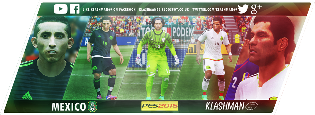 Download Mexico Kit Pack For PES 2015 in Copa America / Gold Cup 2015